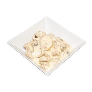 Schweinsgeschnetzelstes Champignonrahmsauce, Beutel à 1 kg