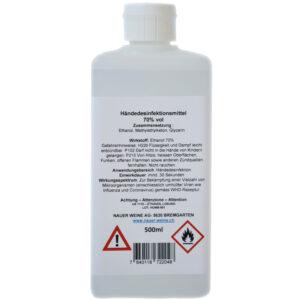 Händedesinfektionsmittel 70% vol 500ml gebrauchsfertig